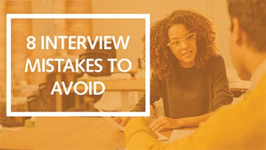 Man and women in an interview