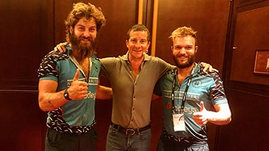 Hairy Handlebars catch up with Bear Grylls in China