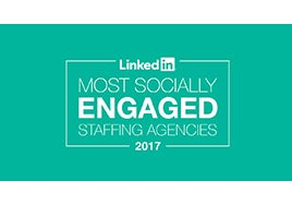 LinkedIn Most Socially Engaged Staffing Agencies 2017 logo