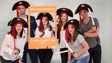 staff dressed as pirates