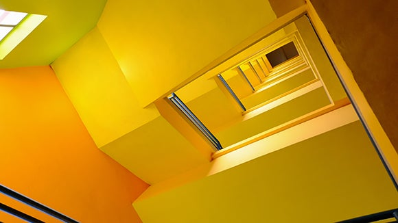 Yellow stair alcove